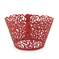 Ivy Pearl Red Lace Cupcake Wrappers 12pcs
