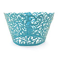 Ivy Pearl Turquoise Lace Cupcake Wrappers 12pcs