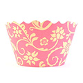 Ivy Pink/Yellow Cupcake Wrappers 12pcs