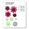 JEM Cutters Pointed Eight Petal Daisy Cutters 4pcs