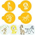 Jungle Animal Stencils 4pcs