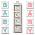 Katy Sue Baby Blocks Silicone Mould
