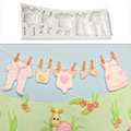 Katy Sue Baby Clothes Washing Line Silicone Mould