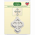 Katy Sue Beaded Cross Silicone Mould