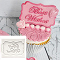 Katy Sue Best Wishes Mini Plaque Silicone Mould