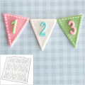 Katy Sue Bunting Numbers Design Mat