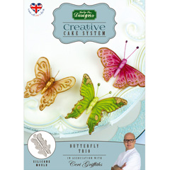 Katy Sue Butterfly Trio Silicone Mould