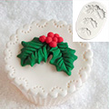 Katy Sue Christmas Holly Trio Silicone Mould