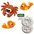 Katy Sue Sugar Buttons Crab & Fish Silicone Mould