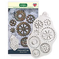 Katy Sue Distressed Cogs Silicone Mould
