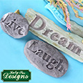Katy Sue Dream Driftwood and Word Stones Silicone Mould