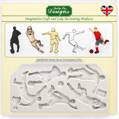 Katy Sue Soccer Football Silhouettes Silicone Mould