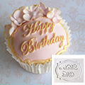 Katy Sue Happy Birthday Mini Plaque Silicone Mould