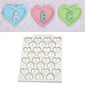 Katy Sue Heart Alphabet Silicone Mould