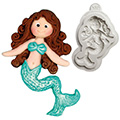 Katy Sue Sugar Buttons Little Mermaid Silicone Mould