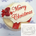 Katy Sue Merry Christmas Mini Plaque Silicone Mould