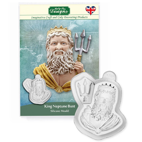 Katy Sue King Neptune Bust Silicone Mould