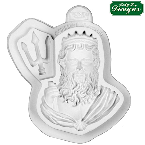 Katy Sue Neptune Bust  Silicone Mould QFS