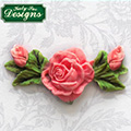 Katy Sue Rose, Bud & Leaf Decoration Silicone Mould