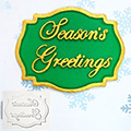 Katy Sue Seasons Greetings Mini Plaque Silicone Mould