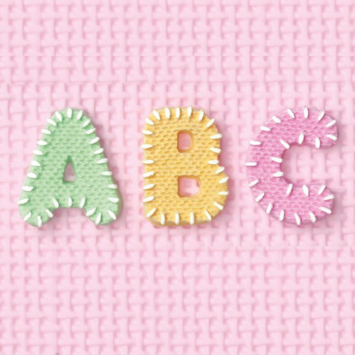 Stitched Alphabet Silicone Mould