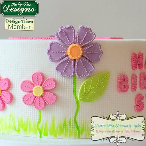 Katy Sue Stitched Flowers Blossoms Silicone Mould