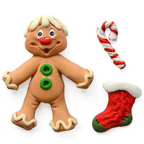 Katy Sue Sugar Buttons Christmas Gingerbread Men Silicone Mould