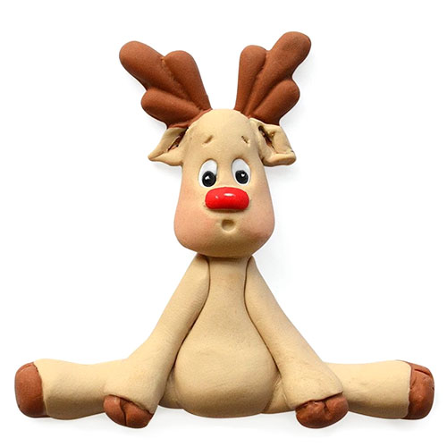 Katy Sue Sugar Buttons Christmas Reindeer Silicone Mould