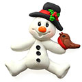Katy Sue Sugar Buttons Christmas Snowman Silicone Mould