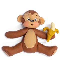 Katy Sue Sugar Buttons Monkey Silicone Mould