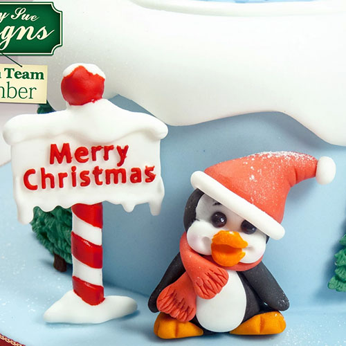 Katy Sue Sugar Buttons Christmas Penguin Silicone Mould
