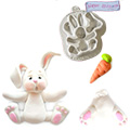 Katy Sue Sugar Buttons Easter Bunny Rabbit Silicone Mould
