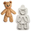 Katy Sue Sugar Buttons Stitched Teddy  Bear Silicone Mould