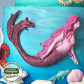 Katy Sue Swimming Mermaid Silicone Mould QFS