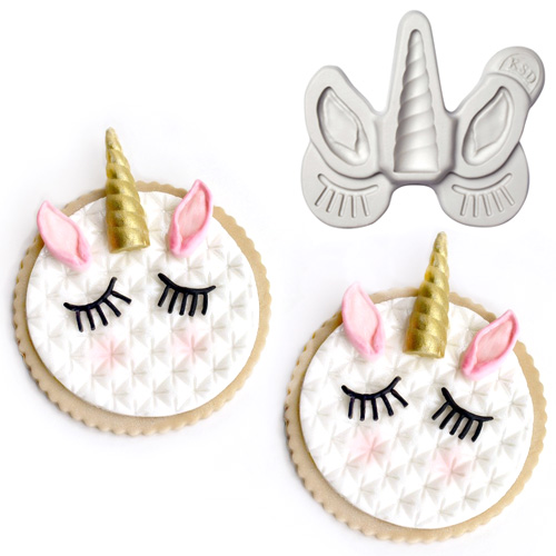 Katy Sue Unicorn Ears, Horn and Lashes Silicone Mould