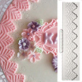 Katy Sue Victoria Lace Border Silicone Mould