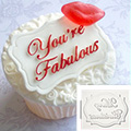 Katy Sue Youre Fabulous Mini Plaque Silicone Mould