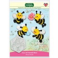 Katy Sue Zuzz and Friends Bees Silicone Mould
