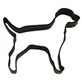 Labrador Dog Black Cookie Cutter