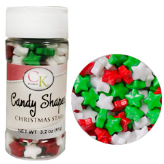 Large Christmas Stars Edible Candy Sprinkles