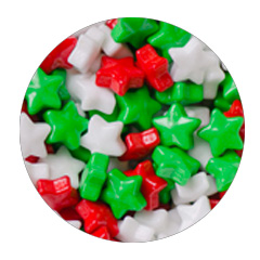 Large Christmas Stars Edible Candy Sprinkles 90g