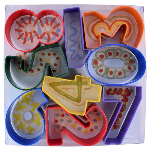 Large Number Cookie Cutter Set 9pcs