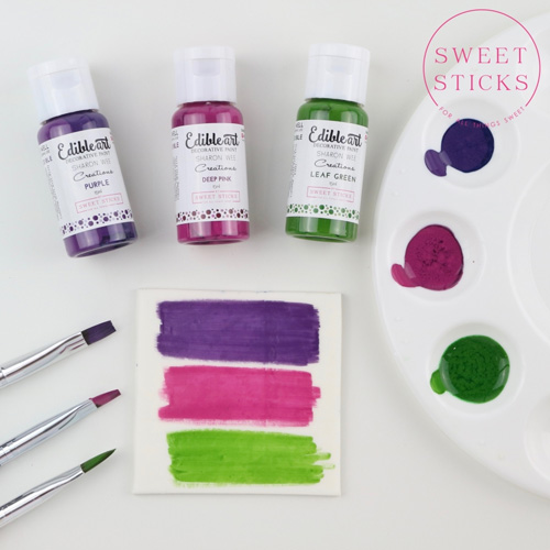 Sweet Sticks Edible Art Paint LEAF GREEN 15ml