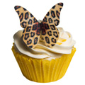 Leopard Print Edible Wafer Butterflies 12pcs