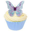 Lilac & Baby Blue Edible Wafer Butterflies 12pcs