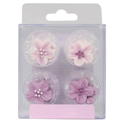 Lilac Flower Edible Cupcake Toppers