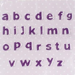 Lower Case Alphabet Texture Mat