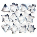 Medium Aspic Cutter Set 12pcs - Stainless Steel