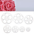 Medium Easy Rose Cutters 7pcs