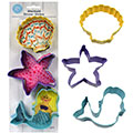 Mermaid Cookie Cutter Set 3pcs